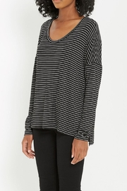 Soprano Black Stripe Comfy-Top - Product Mini Image