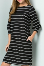 Cezanne Black Striped Dress - Product Mini Image