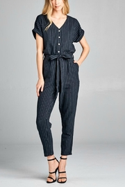 Ellison Black Striped Jumpsuit - Product Mini Image