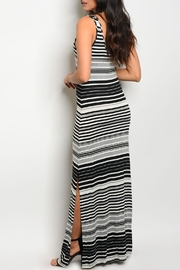 My Beloved Black Striped Maxi - Front full body