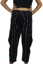 Entro Black Striped Pants - Product Mini Image