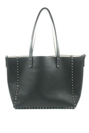 Allie & Chica Black Studded Reversible Tote - Product Mini Image