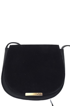 n/a Black Suade Satchel - Product List Image