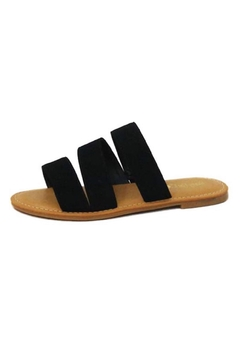 n/a Black Suade Straps-Sandals - Product List Image