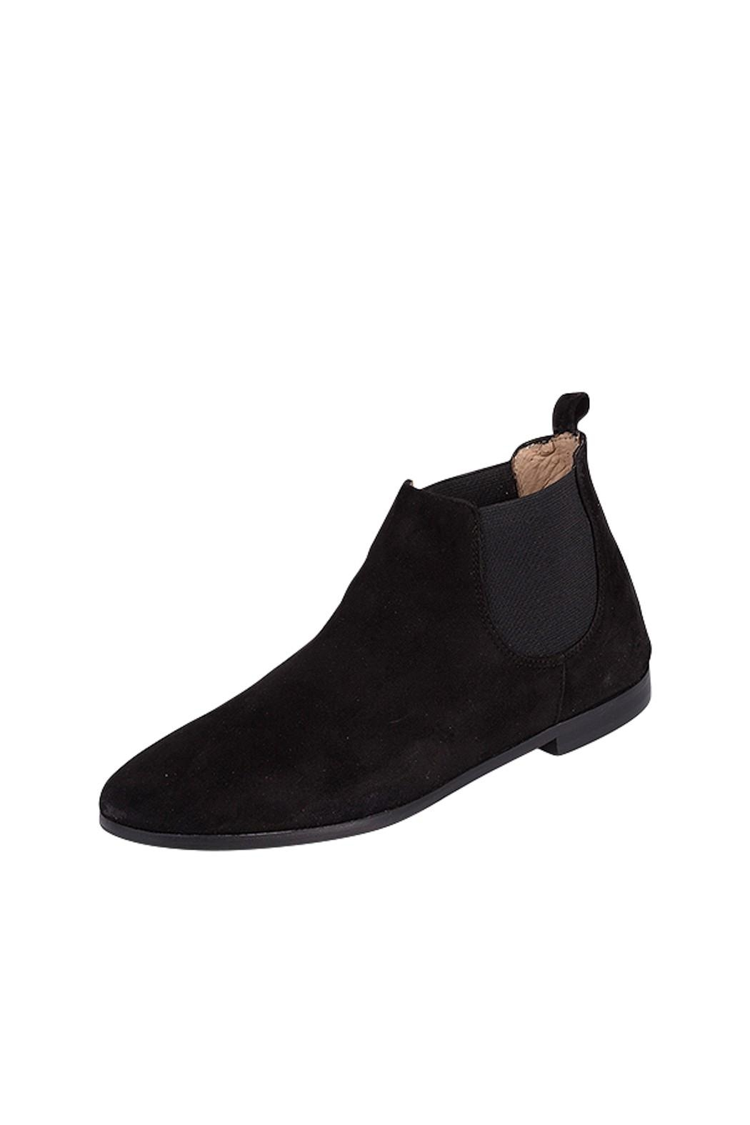 Pascucci Black Suede Bootie - Front Full Image