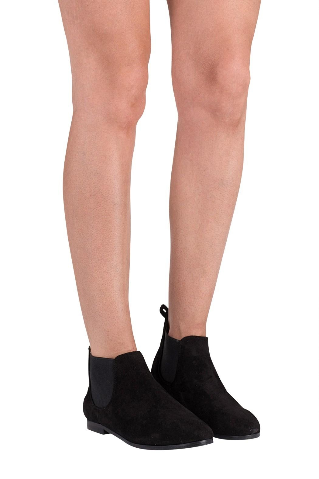 Pascucci Black Suede Bootie - Back Cropped Image