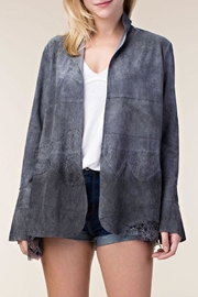 Vocal Apparel Suede Jacket With Bell Sleeves - Product Mini Image