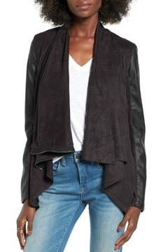 BlankNYC Black Suede Motojacket - Product List Image