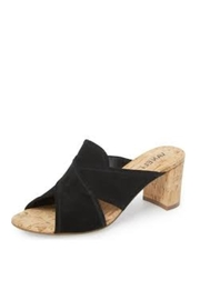 Vaneli Black Suede Slide - Front cropped
