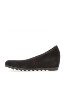 Gabor Black Suede Wedge - Alternate List Image