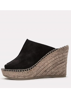 Andre Assous Black Suede Wedge - Alternate List Image