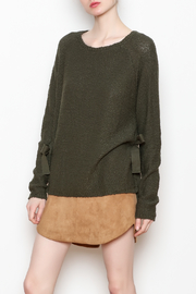 Black Swan Aria Tie Sweater - Front cropped