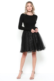 Esley Black Sweater and Tulle Dress - Product Mini Image