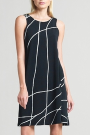 Clara black swirl lines dress - Product Mini Image