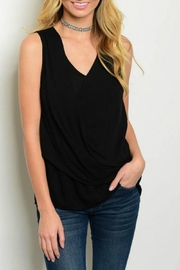 Very J Black Tank - Front cropped