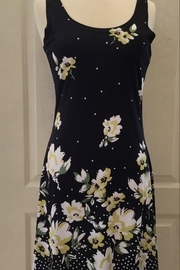 Tango Mango Black Tank dress with yellow floral design - Product Mini Image