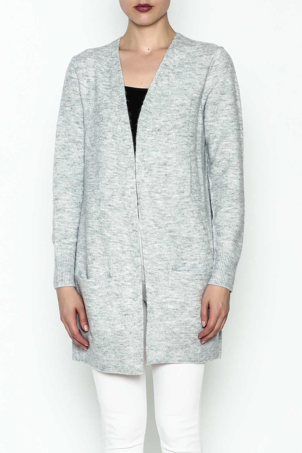 Black Tape/Dex Marled Cardigan - Front Full Image