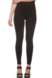 Black Tape Double Zip Leggings - Product Mini Image