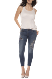 Black Tape Embellished Blue Jeans - Product Mini Image