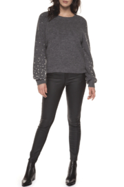 Black Tape Pearl Ombre Sleeve Sweater - Product Mini Image