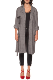Black Tape Trench Coat - Product Mini Image