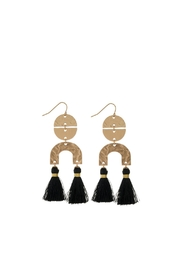 Mimi's Gift Gallery Black Tassels Earrings - Product Mini Image
