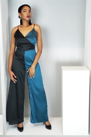 MODChic Couture Black/teal Jumpsuit - Product Mini Image