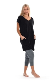 Paper Label Black Tencel Tunic - Front cropped