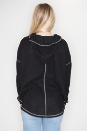 Cherish Black Thermal Hoodie - Side cropped