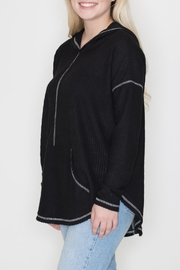 Cherish Black Thermal Hoodie - Front full body