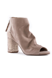 Seychelles Black Tie Ankle Boot - Front full body