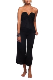 Buddy Love Black Tie-Front Jumpsuit - Front cropped