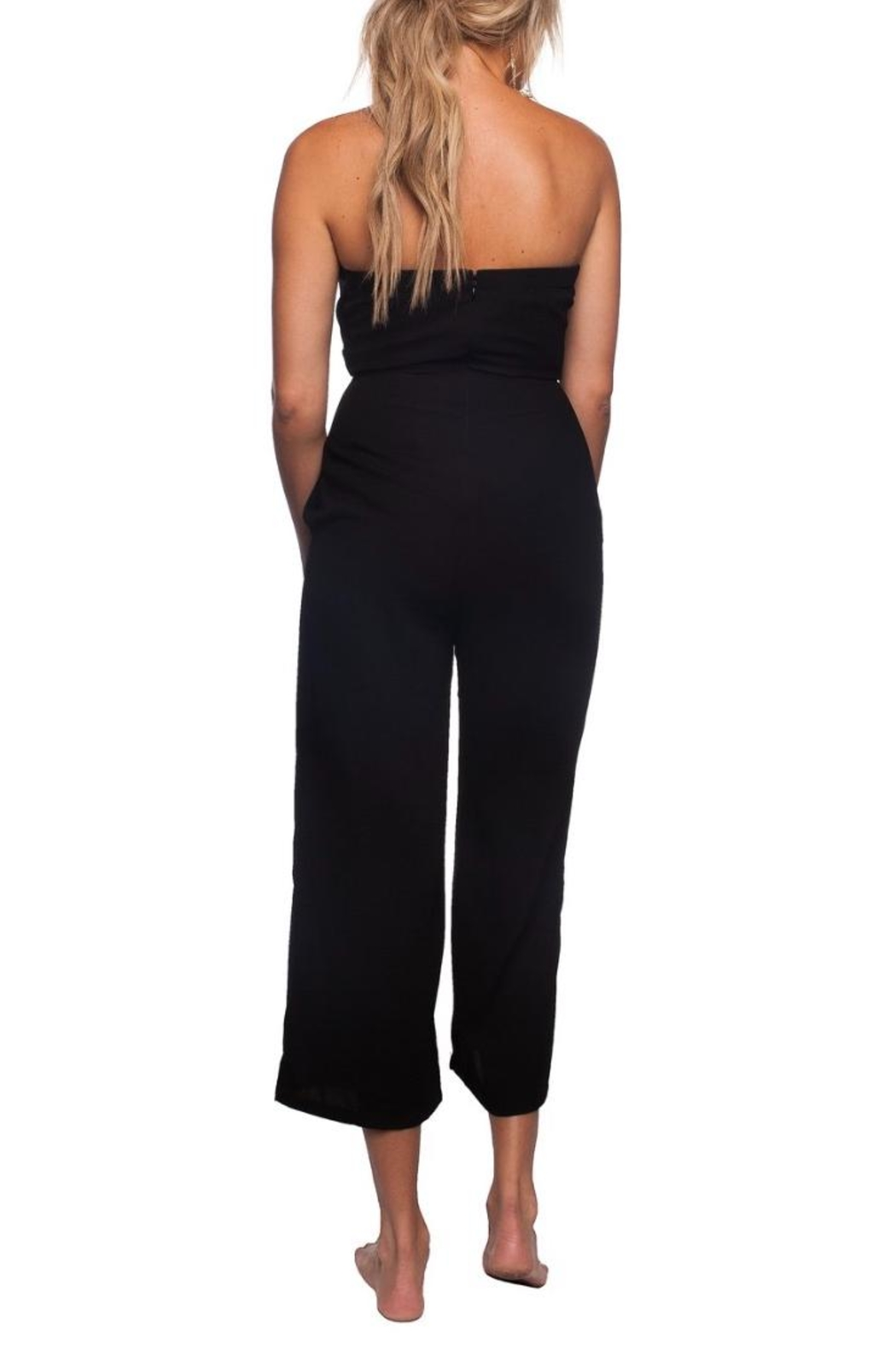 Buddy Love Black Tie-Front Jumpsuit - Side Cropped Image