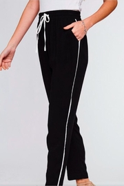 L Love Black Track Pant - Product Mini Image