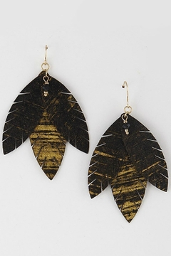 Bag Boutique Black Tribal Earrings - Product List Image
