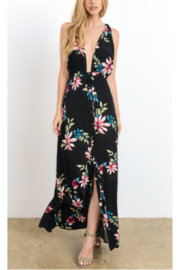 Hommage Black Tropical Floral Maxi - Product Mini Image