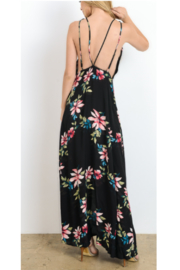 Hommage Black Tropical Floral Maxi - Front full body