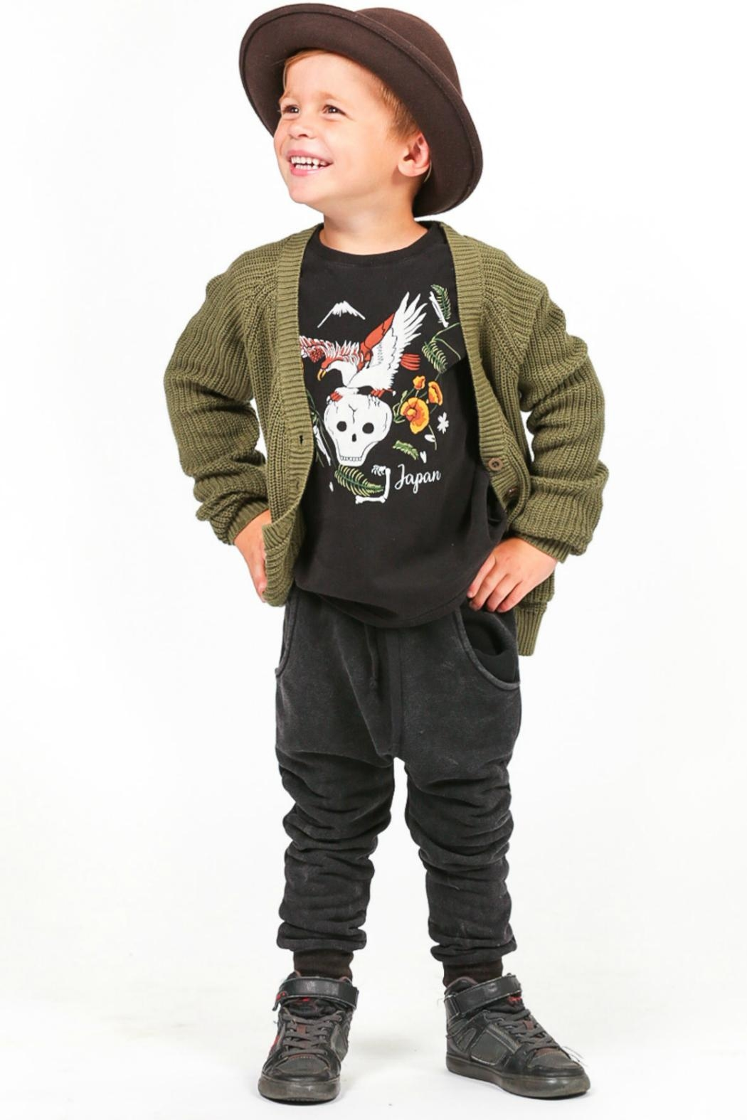 Rock Your Baby Black Trousers - Back Cropped Image