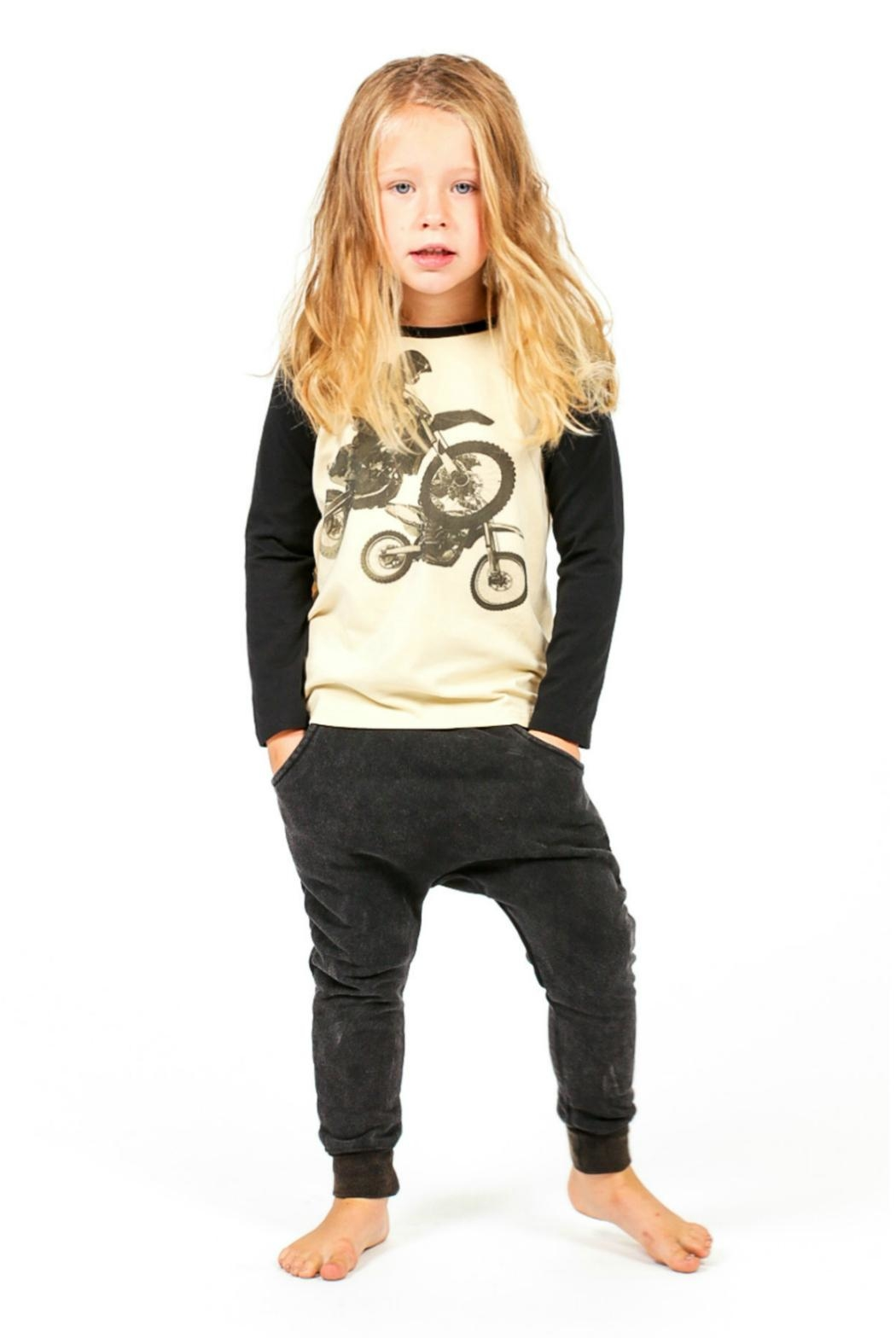 Rock Your Baby Black Trousers - Side Cropped Image