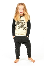 Rock Your Baby Black Trousers - Side cropped