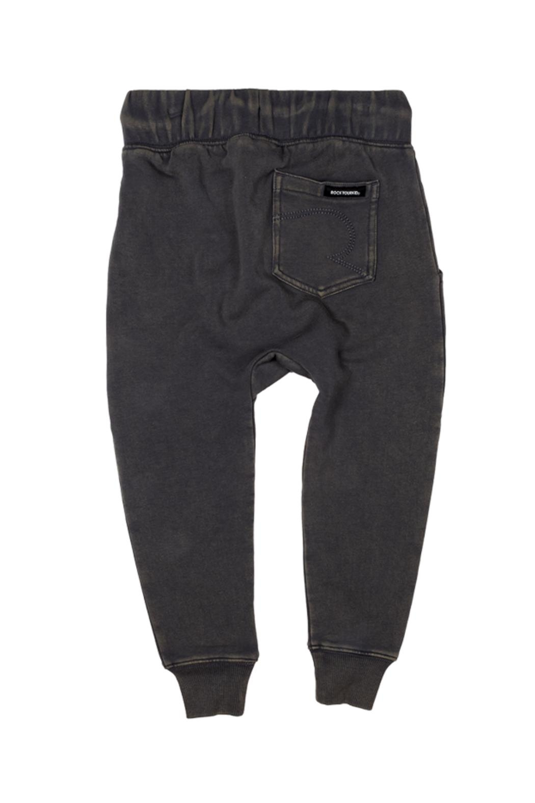 Rock Your Baby Black Trousers - Front Full Image
