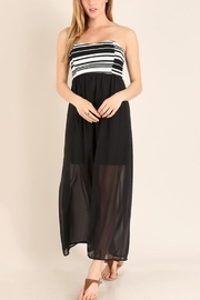 Miss 2 Day Black Tube Maxi - Front cropped