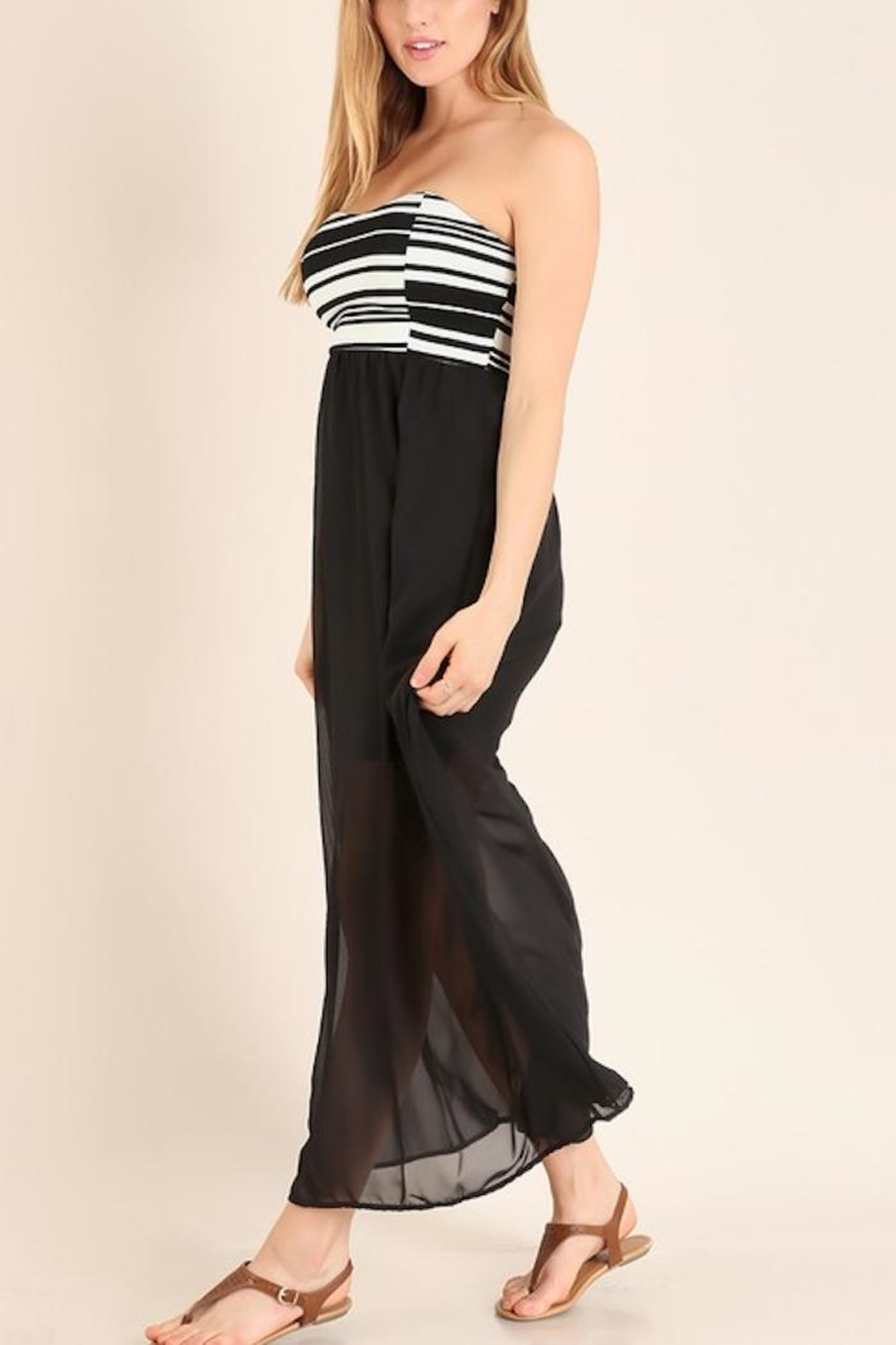 Miss 2 Day Black Tube Maxi - Front Full Image