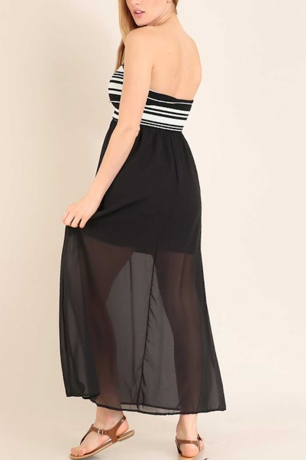 Miss 2 Day Black Tube Maxi - Side Cropped Image