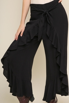 Umgee USA Black Tulip Pants - Product List Image