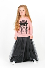 Rock Your Baby Black Tulle Skirt - Side cropped