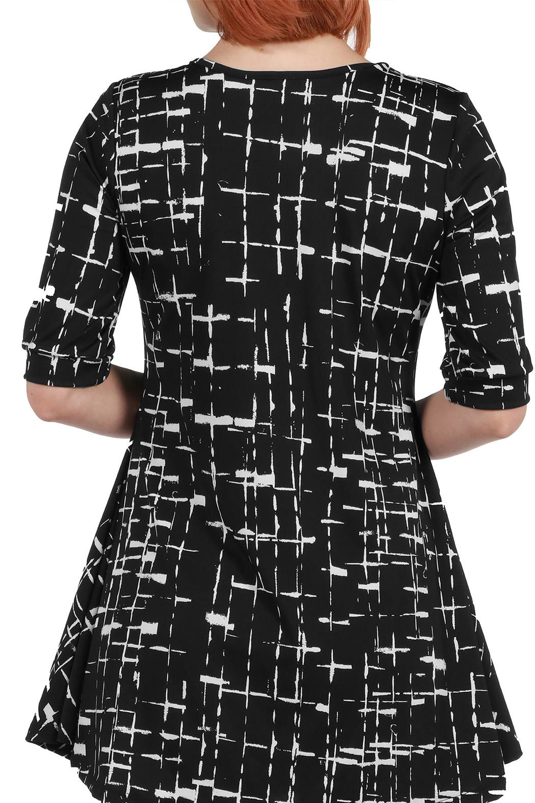 24/7 Comfort Apparel Black Tunic Top - Side Cropped Image