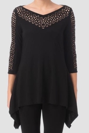 Joseph Ribkoff  Black tunic top - Product Mini Image