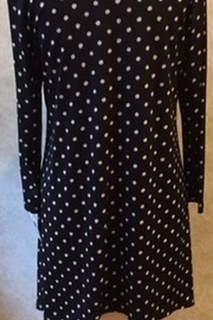 Clara Sunwoo Black tunic top with white polka dots - Alternate List Image