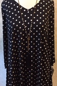 Clara Sunwoo Black tunic top with white polka dots - Product List Image